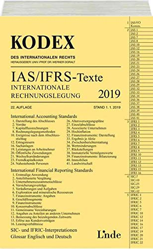 KODEX Internationale Rechnungslegung IAS/IFRS - Texte 2019 (Kodex des Internationalen Rechts)