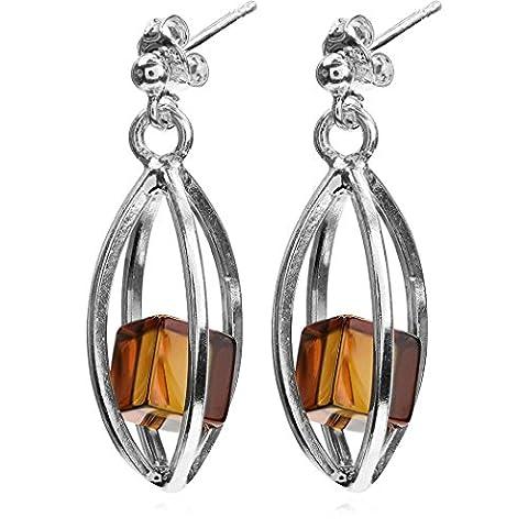 Noda Millenium Collection ambre et argent Sterling boucles d