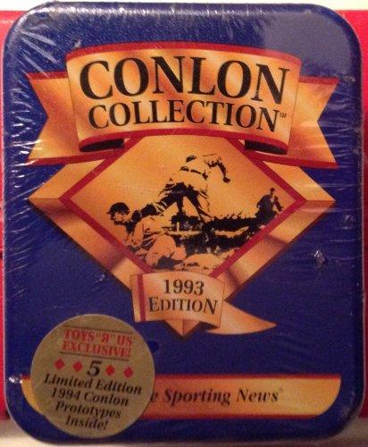 Conlon Collection 1993Edition von The Sporting News 330Karte Set Collectible Tin -