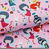 Emily&Joe's fabrics Stoff Jersey Spring Fairies Feen Fuchs