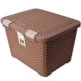Curver Truhe Aufbewahrungsbox mit Deckel Ratten Style Trunk 43 L in braun
