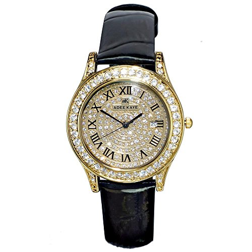 ADEE Kaye Women's Mystique 40.56MM Black Leather Band Quartz Watch AK9257-LG