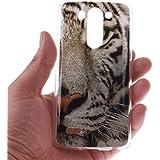 KATUMO® Funda de Piel LG G3 S, Carcasa Silicona Protectora Cubierta para LG G3 S(LG G3 Mini) Transparent Gel Case Bumper Cover[Bonita y Resistente]-Tigre