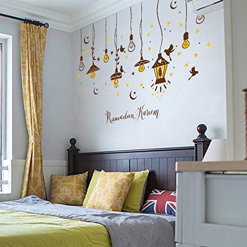TIVOPA Kreative Kunst Pendelleuchte Wandaufkleber Vinyl DIY Wandtattoos Für Wohnzimmer Sofa Hintergrund Wand Studie Decor Aufkleber -