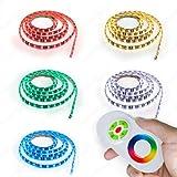 10 Meter LED Strip RGB (Mehrfarbig) LED Band mit 600 SMD 5050 LEDs IP65 wasserabweisend Komplett Set mit Netzteil+ Controller+ Touch Fernbedienung [Energieklasse A]