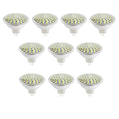 ACDC 12V 5W MR16 LED Birne Tageslicht 40 Watt Halogenbirnen Äquivalent MR16 LED Scheinwerfer GU5.3 Basis 400 Lumen 6500K 180 Grad Strahlwinkel für Landschaft, Akzent, Einbau,Schienenbeleuchtung -