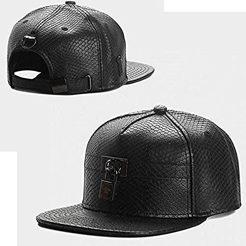 DWcamellia Hut Kappe Orange oder Schwarz Leder Knochen Hip Hop Hut Männliche Dame Adult Outdoor Leisure Sun Baseball Cap , A