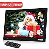"""MRQ 14.1"""" Digitaler Bilderrahmen, 1280x800 HD Bildschirm, unterst�tzt 1080P, Bewegungssensor Funktion, unterst�tzt USB SD und Multi-Format, Video Musik Foto E-Book Wiedergabe, Uhr Kalender Alarm Bild"""