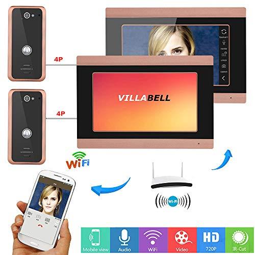 Intelligentes Video-Türklingeltelefon Walkie Talkie Zugangskontrollsystem WiFi Wired Night Vision Wasserdichte Außenkamera Überwachung Unterstützung Remote APP Gegensprechanlage Entsperren Aufnahme -