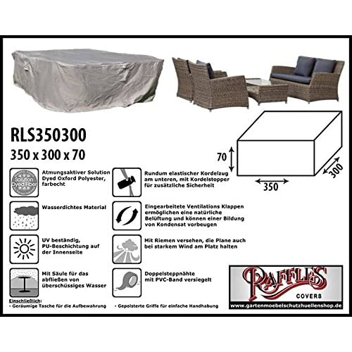 RLS350300 XL cover for garden furniture lounge set 350 x 300 H: 70 cm Protection cover for a rectangular lounge set…