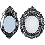 MADHUSUDAN GLASS WORKS Mirror & Plywood Wall Mirror (Pack Of 2, Silver) - B07BJ4KQP5