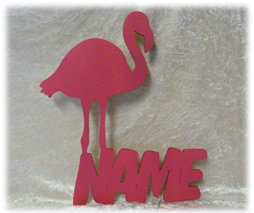 Schlummerlicht24 3d Led Flamingo Figur Deko mit Name-n personalisiert, Holz Wand-Tattoo Geschenk-e für das Mädchen Baby Erwachsene Freundin...