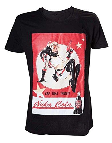 Fallout Nuka Cola Lady-T-shirt  Uomo    nero Large