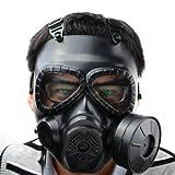 Maschera per il viso integrale antigas M04, con filtro nero, Black
