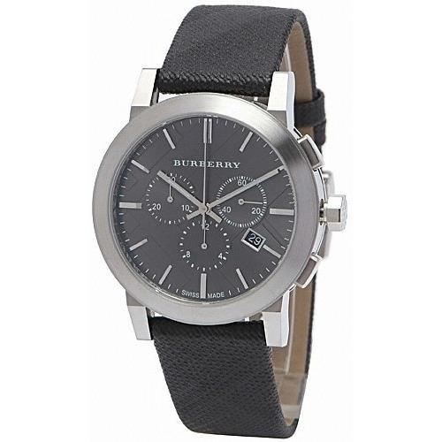 Burberry Homme 42mm Chronographe Noir Tissu Bracelet Date Montre BU9359