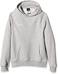 Nike Unisex Kinder Kapuzenpullover Team Club, Grau (Grey Heather/football White), M