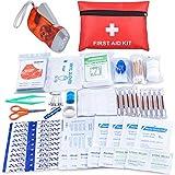Oziral Scatola Rigida Kit di Pronto Soccorso Compatto 113 Pcs Mini Kit Emergenza Medica Impermeabile per Auto da Viaggio Casa Ufficio Campeggio Luogo di Lavoro Escursioni Caccia Avventure