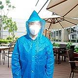 ZWYM Impermeabile USA e Getta Unisex Abito di Protezione Resistente all'olio Impermeabile Escursionismo Ciclismo Sport all'Aria Aperta Campeggio Must Rainwear Suit-BlueGiacche Impermeabili