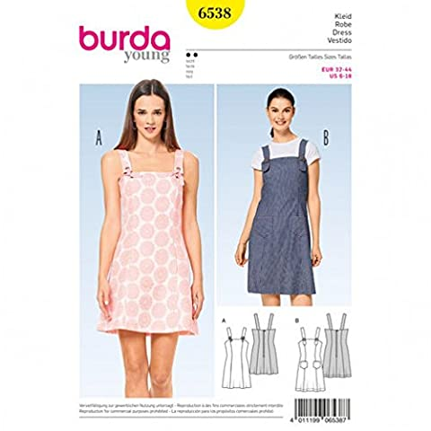 Burda Patron de couture facile 6538 robes à bretelles