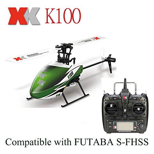 Bluelover XK K100 Falcom 6CH Flybarless 3D6G sistema RC elicottero RTF