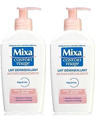 Mixa Expert Peau Sensible Lait Démaquillant Antidessèchement Glycérine 200 ml - Lot de 2