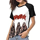 Photo de HSJCBHLS T-Shirts Femme Manches Courtes Krisiun Women Raglan Short Sleeve Casual Print T-Shirts Baseball Blouses par HSJCBHLS