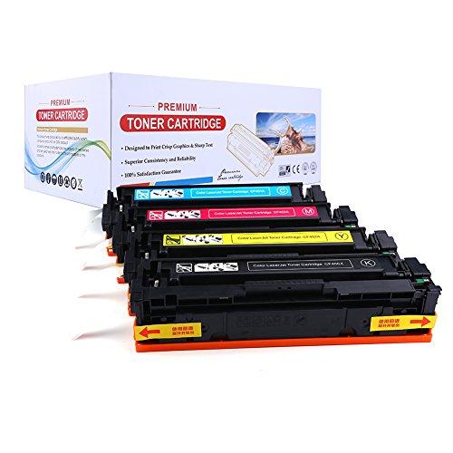 Radtek Lot de 4Compatible Cartouche de toner HP 201X Cf400X Cf401X Cf402X Cf403X haute capacité pour une utilisation avec HP Color LaserJet Pro M252dw/M252N, MFP M277dw, M277N | 1Noir, 1cyan, 1magenta, 1jaune