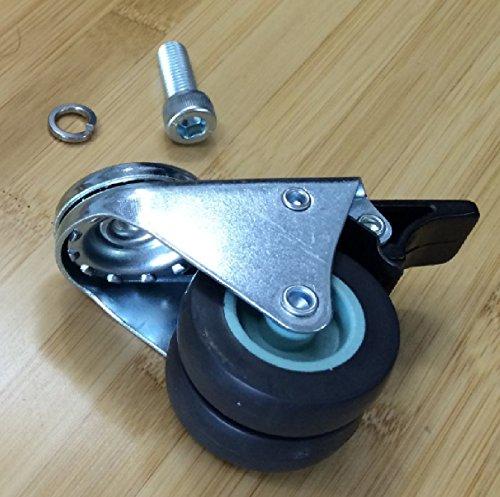 Ahorn Stahl Schreibtisch (smart2ergo Set von 4Rollen, machen Sie Ihr Schreibtisch leicht zu bewegen. | 4schwere Metall Rollen mit Verriegelung | geeignet für smart2ergo Steh-Sitz-Schreibtische)