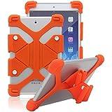 tsmine Soporte universal de golpes silicona Funda elástica para Lenovo tablet naranja Lenovo Tab 2 A10-30