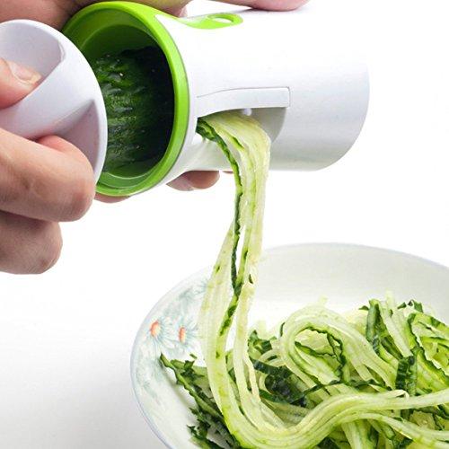 comprare on line Spiralizzatore Affetta Verdure Spaghetti - Qualità Affettatrice Spirale Vegetale Veggetti, Zucchine Pasta Tagliatella Spaghetti+ Pennello prezzo