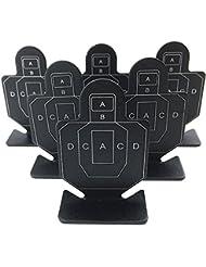 Airsoft Magic Full Metal AB valiente guerrero objetivos de disparo 6pcs para AEG GBB airsoft–negro