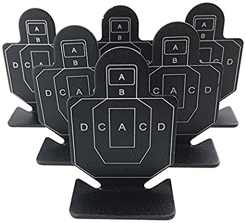 Airsoft Magic Full Metal AB Brave Guerrier vue cibles 6pcs pour AEG GBB Airsoft–Noir