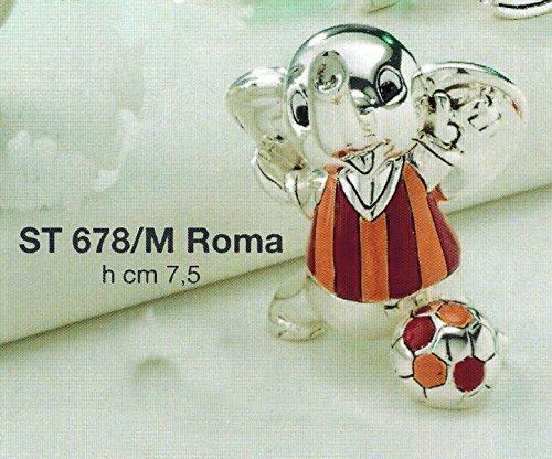 Animaletti squadra calcio roma h cm7,5 laminato argento made in italy