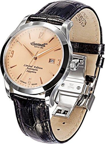 Ingersoll Herren-Armbanduhr XL Analog Automatik Leder IN1004AP