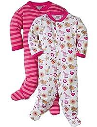 Baby Butt Schlafanzug 2er-Pack mit Druckmotiv Tiere Interlock-Jersey