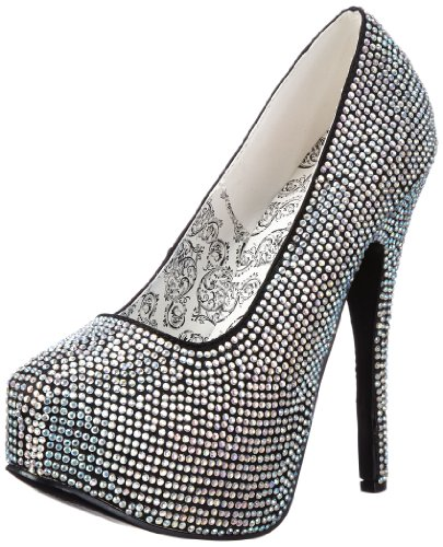 Bordello Teeze-06R, Damen Pumps, Mehrfarbig (Iridescent rhinestones), EU 41 (UK 8) (US 11)
