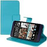kwmobile Hülle für HTC Desire 510 - Wallet Case Handy Schutzhülle Kunstleder - Handycover Klapphülle mit Kartenfach und Ständer Blau