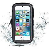 Fahrradhalterung, Bingsale Handyhalter Fahrrad Verstellbar Halter Verstellbar mit Wasserdichter Tasche Schutzhülle Halterung Universal für Huawei P9 Lite, iPhone 7 Plus / 6 Plus/ 6S Plus, Huawei Honor 5X, Samsung Galaxy S7 Edge (5,0- 5,5 Zoll) (Wasserdichter)