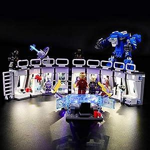 LIGHTAILING Set di Luci per (Super Heroes Sala delle Armature di Iron Man) Modello da Costruire - Kit Luce LED… 0746362889135 LEGO