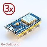 AZDelivery ESP32 NodeMCU Module Wlan Wifi Development Board mit CP2102 (Nachfolgermodell zum ESP8266) und gratis eBook! (3x ESP32 NodeMCU)
