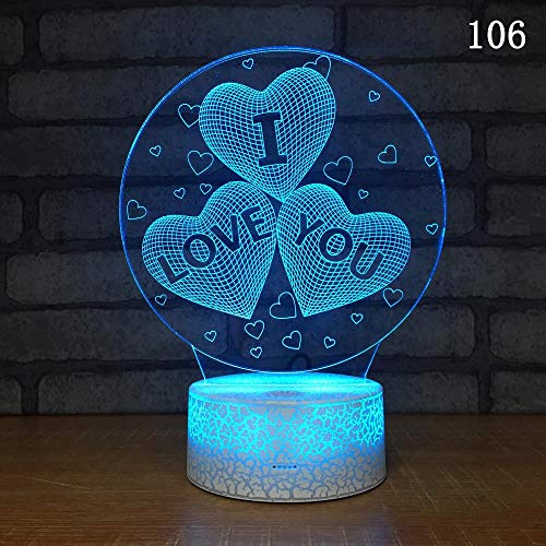 a53f9a9953 Creative Love Balloon 3d Led Night Lamp/Seven-color Explosive Crack  Atmosphere 3d Light