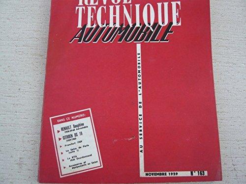 Revue technique automobile N° 163 : Renault Dauphine, Citroën DS 19...