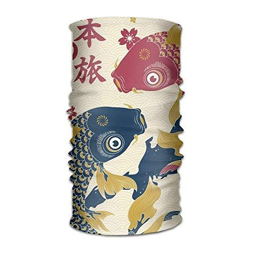 Uosliks Two Carp On The Map Of Japan Fashionable Outdoor Hundred Change Headscarf Original Multifunctional Headwear - Pacific Black Duck