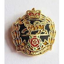 Ejército británico Royal Hampshire Regimiento insignia–MOD aprobado