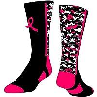 TCK Deportes campaña contra el cáncer de Mama Lazo Rosa Calcetines de Referencia - LDBCC-