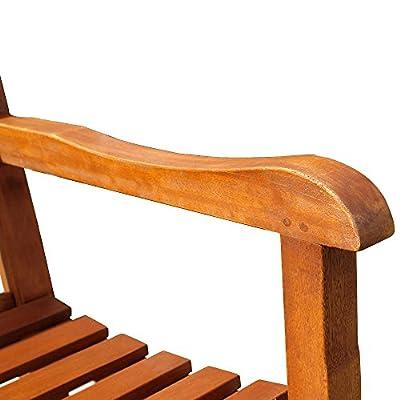 Holz Gartenbank - Akazienholz - Holzbank - Sitzbank 180cm - TOSCANA