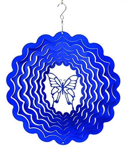 Mobile à vent papillon bleu 15cm