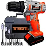 Terratek TCDS50 18V/20V Cordless Drill Driver Electric Screwdriver Carry Case - 50Pcs Kit
