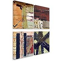 Exclusive immagini su tela fissata (4pezzi 50x 50cm)–astratto Rose Quartz terra cotta blu notte