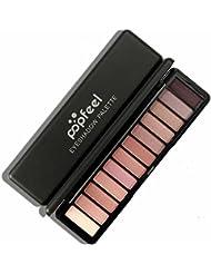 zahuihuiM, 12 couleurs cosmétiques matte ombre à paupières crème maquillage palette shimmer